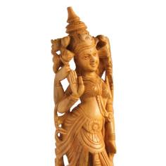 Paravati Statue Holz
