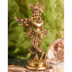 Krishna 18 cm Messing
