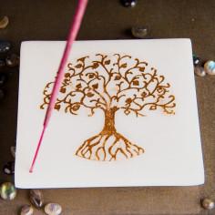 Marmor-Halter - goldener Baum des Lebens