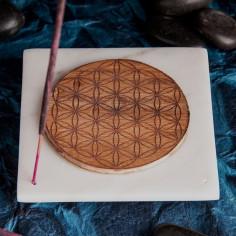 Marmor Halter Blume des Lebens aus Holz