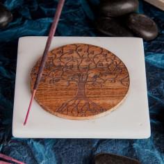 Marmor Halter Baum des Lebens aus Holz