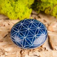 Handschmeichler blau Blume des Lebens