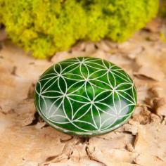 Handschmeichler grün Blume des Lebens