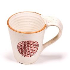 Keramikbecher Blume des Lebens