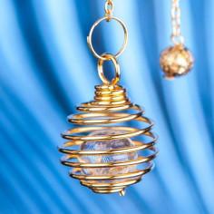 Spiralpendel mit Bergkristallkugel