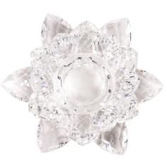 Lotus Kerzenhalter Kristall für Stabkerzen