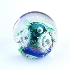 Traumkugel grün blau weiss