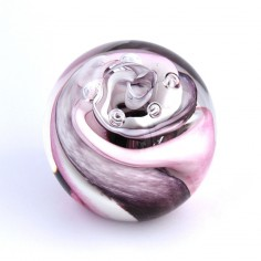 Traumkugel violet rose weiss