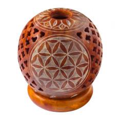 Teelicht Kugel Blume des Lebens