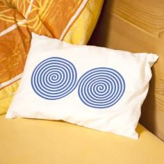 Zirbenholzkissen - Aufdruck Doppelspirale