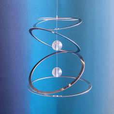 Windspiel Ringkreisel mit 2 Glaskugeln